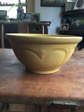 "Exceptional Antique Yellow Glazed 12"" Mixing Bowl Circa 1900 Very Very Nice!"