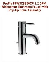 ProFlo PFWSC8850CP 1.2 GPM Widespread Bathroom Faucet with Pop-Up Drain Assembly