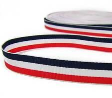 "2 Yd Patriotic Red White Navy Blue Stripe Grosgrain Ribbon 5/8""W"