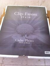 """SIX 11x14"""" Clip Frames Picture Frameless real Glass Phot--mat to 8x10 **$18 ship"""