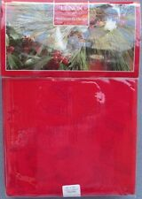 Lenox Holiday Holly Damask Red Tablecloth 60 X 104 Oblong Rectangle New