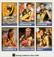 2005 Herald Sun AFL Trading Cards Base Card Team Set Richmond (12)
