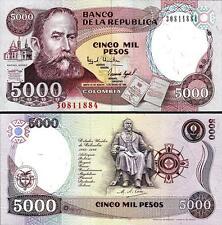 COLOMBIA 5000 5,000 PESOS 3-1-1994 UNCIRCULATED P.440