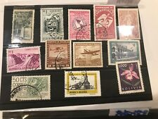 South and Central America, 20 used stamps, all different, mainly old ones Vf