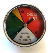 "ZA CI-20 - Zinga Color Indicator Gauge 1/8"" MPT Rear Mount (Shows when filter ne"