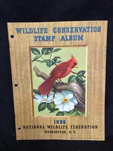 1958 Wildlife Conservation Stamp Album Cardinal - Collectors