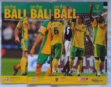Norwich City Championship Football Programmes