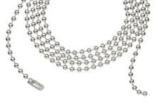 """20 Sterling Silver Plated 24"""" Ball Chains Jewelry Pendant Necklace DIY Supplies"""