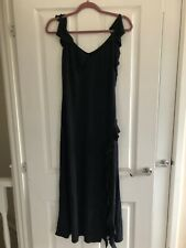 Joseph Ribkoff Dress Sz 12 Couture Black Ruffle Frill Flamenco Cruise Cocktail