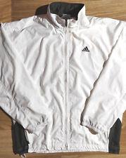 Adidas 90's Vintage Mens Tracksuit Top Jacket White