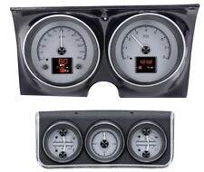 Dakota Digital 67 Chevy Camaro Analog Gauges Kit w/ Console Silver HDX-67C-CAC-S