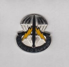 US Army Special Operations Support Command Airborne SOSC crest DUI badge D-22
