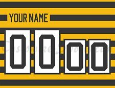 Pittsburgh Steelers Customized Number Kit for Bumblebee Throwback