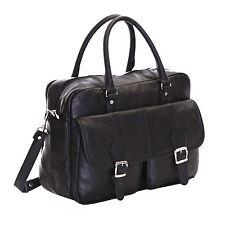 Slimbridge Essen Leather Briefcase Black