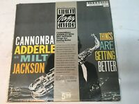 "Cannonball Adderley & Milt Jackson ""Things Are..."" Jazz LP Riverside Very Good +"