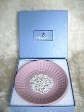 LOVELY WEDGWOOD PINK JASPERWARE AUSTRALIAN FLOWER PLATE PIN DISH