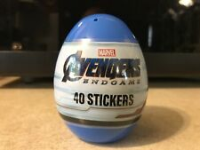 Marvel Avengers Jumbo Plastic Egg with 40 Stickers Factory Sealed Free Shipping