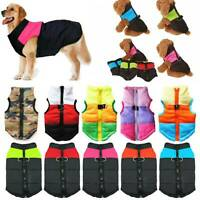 Pet Dog Vest Jacket Warm Waterproof Clothes Winter Padded Puppy Coat Small/Large