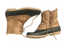 Yuu Size 10 M Womans Black And Brown Duck Boots
