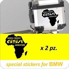 2 Adesivi Stickers AFRICA Trophy GSA Moto BMW R 1200 1150 1100 800 650 gs baule