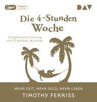 TIMOTHY FERRISS - DIE 4-STUNDEN-WOCHE.MEHR ZEIT,MEHR GELD,LEBEN   MP3 CD NEU