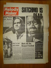 MELODY MAKER 1971 JUL 10 LOUIS ARMSTRONG SATCHMO DIES