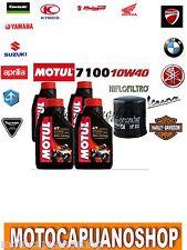 TAGLIANDO 4 L OLIO MOTUL 7100 10W40 + FILTRO OLIO KAWASAKI KLZ1000 VERSYS 2012