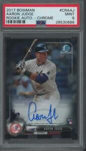 2017 Bowman Chrome Aaron Judge Auto RC Rookie Mint PSA 9
