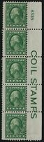 US Stamps - Scott # 424 - Coil Plate Strip - Mint Heavy Hinge            (D-195)