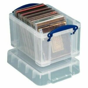 Really Useful Strong Clear Plastic 3 Litre CD / DVD  STORAGE BOX