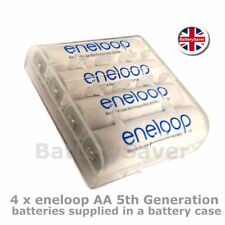 4 x Panasonic AA eneloop 5th Generation Rechargeable Batteries with Battery Box