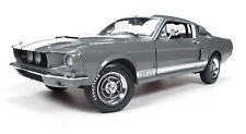 1:18 AUTO WORLD AMERICAN MUSCLE Gray Metallic 1967 Shelby GT-350 Mustang NIB