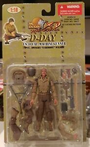 Ultimate Soldier 1/18 xd WWII US D-Day 30 Cal machine Gunner 21st century toys