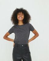 Oliver Bonas Women Gem Detail Grey T-Shirt