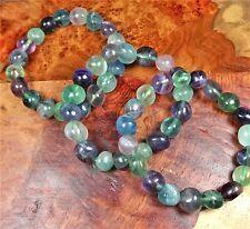 Fluorite Bracelet Tumbled Freeform Rainbow Beads G2 Healing Crystals And Stones