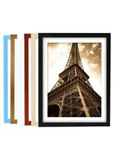 6 - Black Picture Frames, 8 X 10 BLACK Photo Frames W/ Perspex, FREE SHIPPING!!