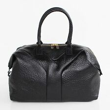 PREMIUM BUBBLE LAMBSKIN easy bag large [Black] woman's Totes & Shoulders handbag