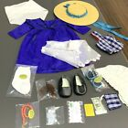 """New Lot 17 Set Blue Outfit Shoes Accessory 18"""" American Girl doll Toy Xmas gift"""