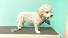 White Cockapoo Dog Figure