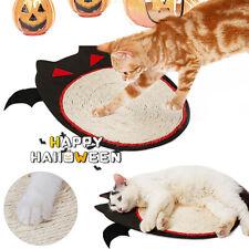 Halloween Cat Kitten Claw Scratching Board Scratcher Mat Pad Bat Scratch Toy
