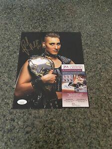 """Rhea Ripley """"Signed"""" 8 x 10 Certified by JSA - WWE NXT AEW NWA"""