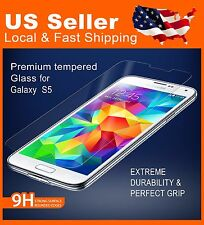 Tempered Glass Screen Protector for Samsung Galaxy S5 9H Highly Scratch Resistan