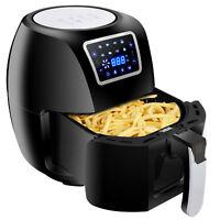 Adjustable Temperature Deep Air Fryer Appliance Pan Capacity 6.3Qt 1700W Black
