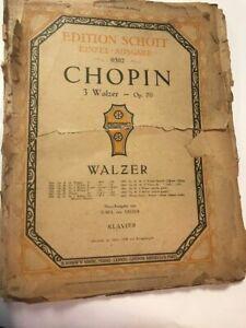 Klavier Noten, 1918