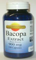Bacopa Extract 900 mg  180 capsules bacopa monnieri   Brain Health