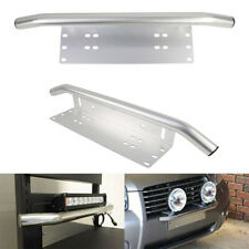 Bull Bar Front Bumper License Plate Mount Bracket LED Work Light Holder Chrome w