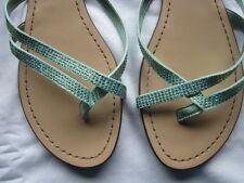 Aldo Mirielis Sandals Lt. Green (mint) Crystal Rhinestone Sandals-Size 9 EUC