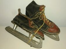 Antique Ice Skates Two Tone Bowling Shoes Style