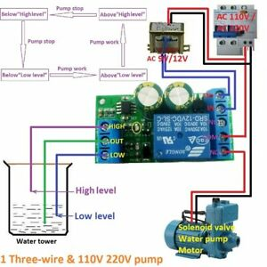 12V Water Level Automatic Controller Liquid Sensor Switch Solenoid valve Motor