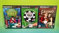 High Rollers Casino World Series Poker Championship - PS2 PlayStation 2 Game Lot
